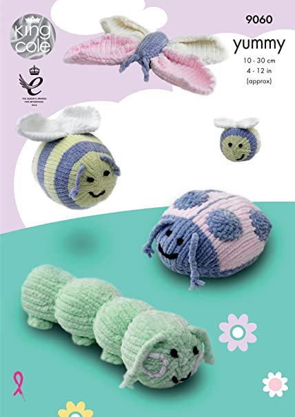 King Cole 9060 Knitting Pattern Bug Insect Toys In King Cole Yummy