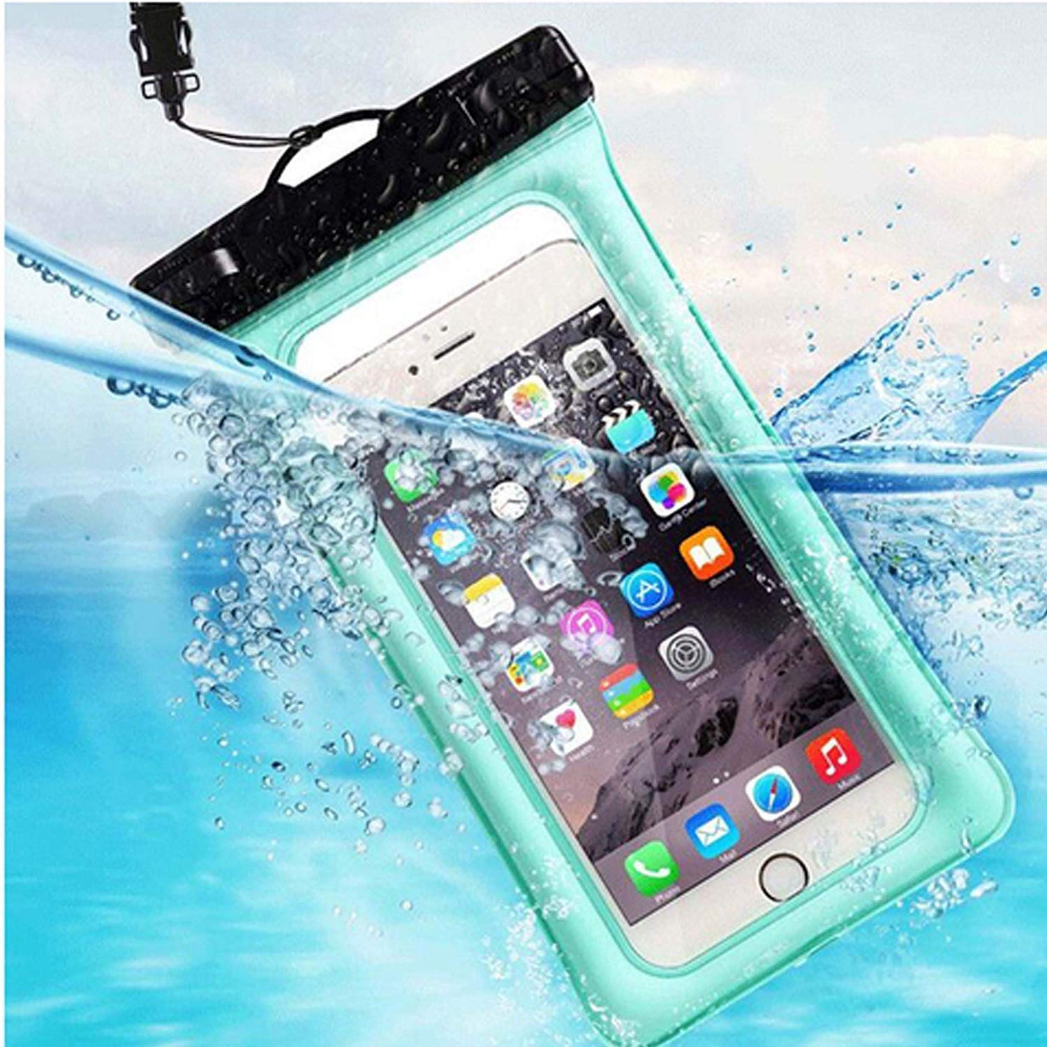 MQOUNY Waterproof Phone Pouch,2 Pack Floating Waterproof Case Waterproof Phone Case IPX8 Available TPU Clear Dry Bag for iPhoneXs/Xs Max/XR/8/8plus/7/6s/6/6s Plus Samsung up to 6.5'' (Black-Black) by MQOUNY (Image #6)
