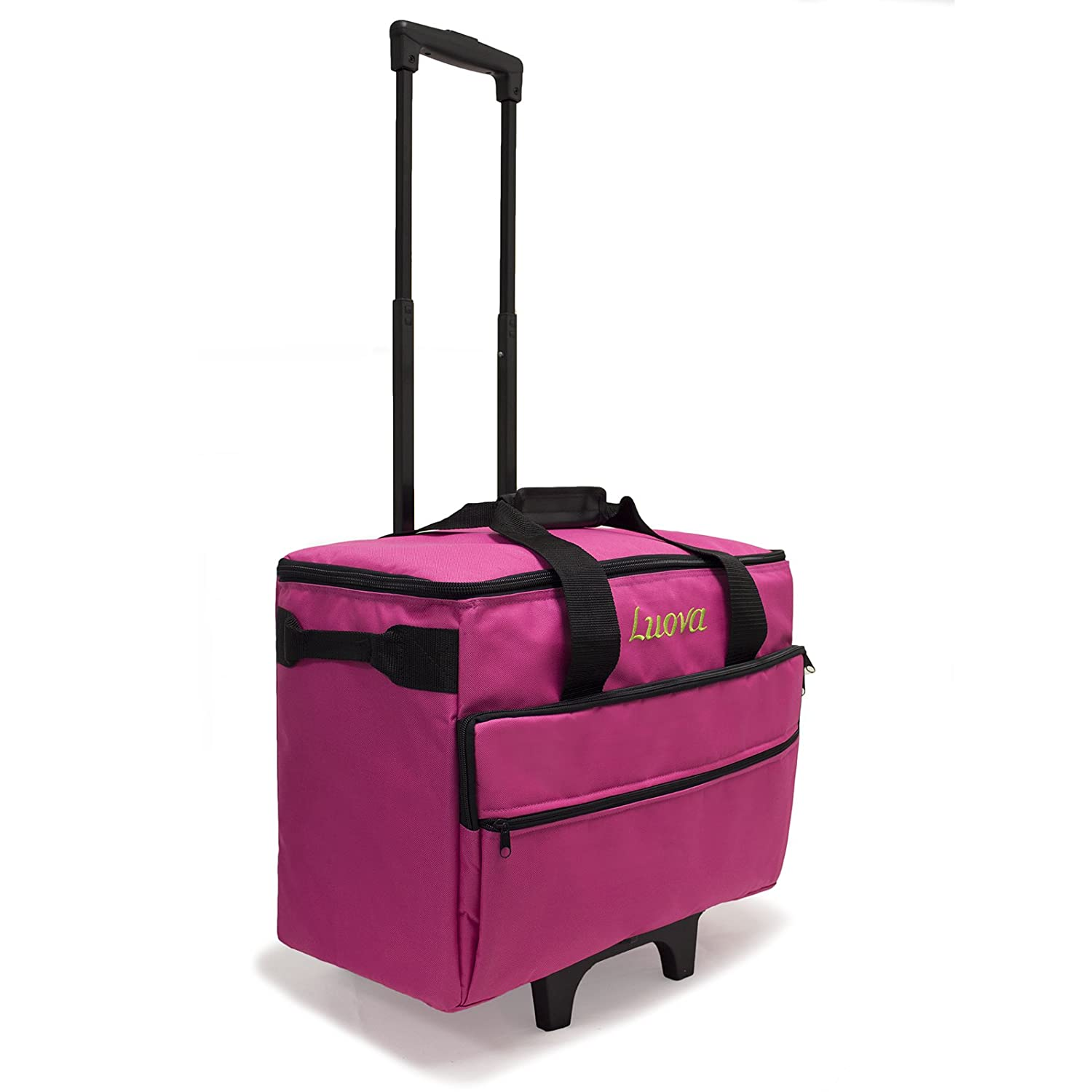 Luova 19 Rolling Sewing Machine Trolley in Pink L19-PK