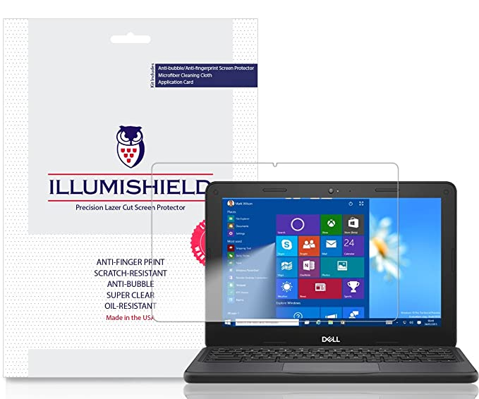Dell Chromebook 5190 Screen Protector [2-Pack], iLLumiShield Screen  Protector for Dell Chromebook 5190 Clear HD Shield with Anti-Bubble &