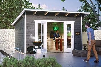 Cabaña Madera Casas de jardín, listones hogar Ostende 2, color gris, 300 x 400 x 264 cm, 603701 - 13: Amazon.es: Jardín