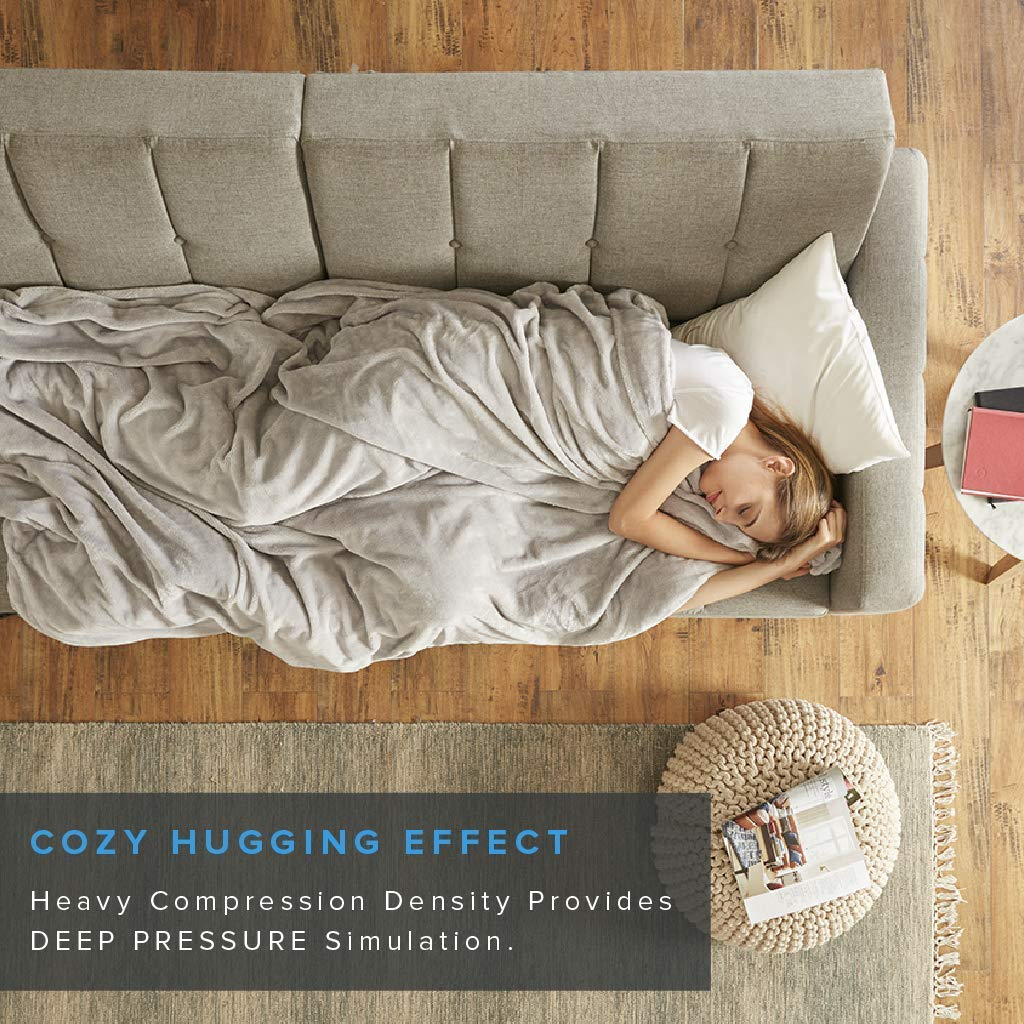Degrees of Comfort Weighted Blanket w// 2 Duvet Covers for Hot /& Cold Sleepers|Advanced Nano-Ceramic Beads Deliver Durability /& Silky Comfort DC51-0005 60x80 25lbs, Grey