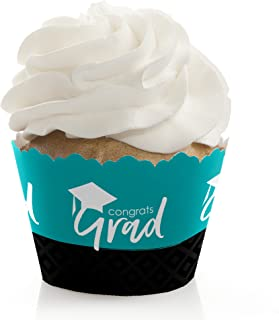 product image for Teal Grad - Best is Yet to Come - Turquoise Graduation Party Decorations - Party Cupcake Wrappers - Set of 12