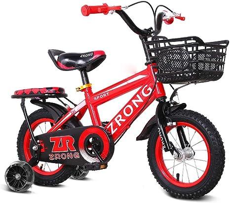 JINHH Bicicleta para Niños 2-3-6 Años Niño Niño Niña Bicicleta ...