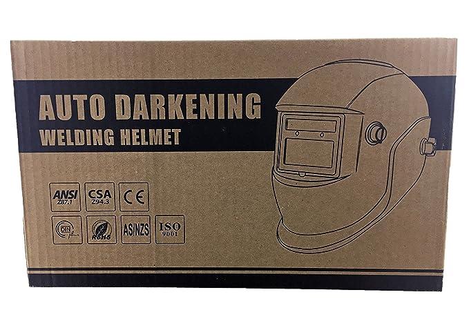 Instapark ADF serie gx-350s funciona con energía solar auto oscurecimiento casco de soldadura con pantalla de ajustable gama # 9 - # 13, FBA_GX-350BLUE: ...