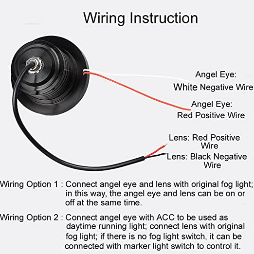 angel eye spotlight wiring diagram wiring diagrams schematic amazon com ledholyt 2pcs high power cob led fog light projector red full house wiring diagram angel eye spotlight wiring diagram
