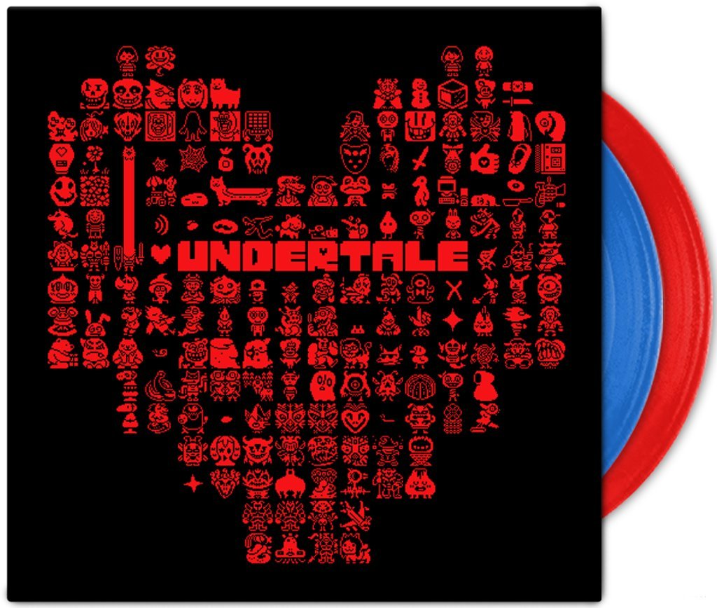 Undertale Soundtrack (Limited Edition Red and Blue Colored Vinyl) by iam8bit (Image #1)