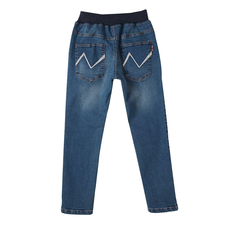 Leo&Lily Boys' Kids' Husky Rib Waist Stretch Denim Jeans Pants (10) by Leo&Lily (Image #5)