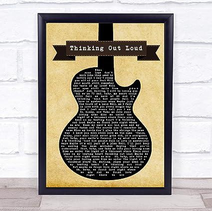 Ed Sheeran - Póster de la canción de la guitarra negra, Small A5 ...