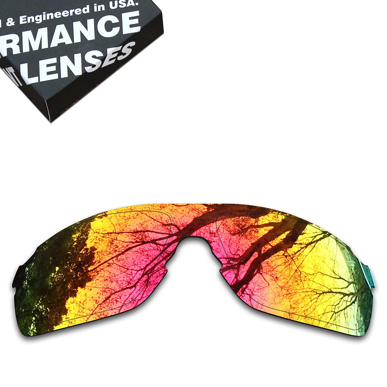 19c93f4bca8e5 Amazon.com  ToughAsNails Polarized Lens Replacement for Oakley EVZero Pitch  Sunglass - More Options  Clothing