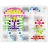 Chiodini di Plastica con Puntine da Infilare a Forma di Fungo Giocattolo per Bambini 3 Anni, 184 Pezzi