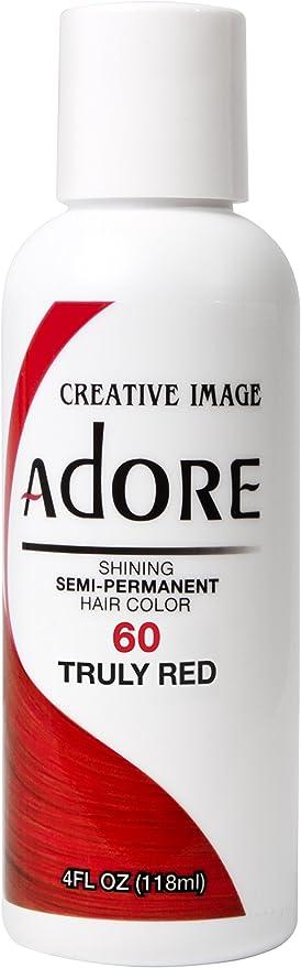 Adore Shining - Tinte de pelo semipermanente, 60 verdaderamente rojo