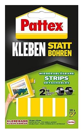 Strip Montagepads 45450 Hält 4 Kg 16 Pads Uhu Montage Klebepads Extrem