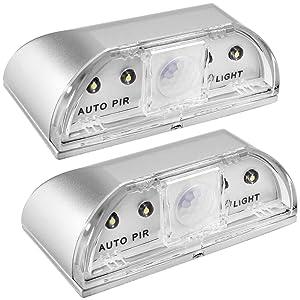 2 Pack Keyhole Light, SENHAI PIR Infrared IR Wireless Door Lock Lamp, Auto Sensor Motion Detector, 4 LED Bulbs
