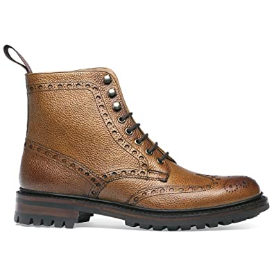 Cheaney Tweed C Wingcap Brogue Country Boot in Almond Grain Leather:  Amazon.co.uk: Shoes & Bags
