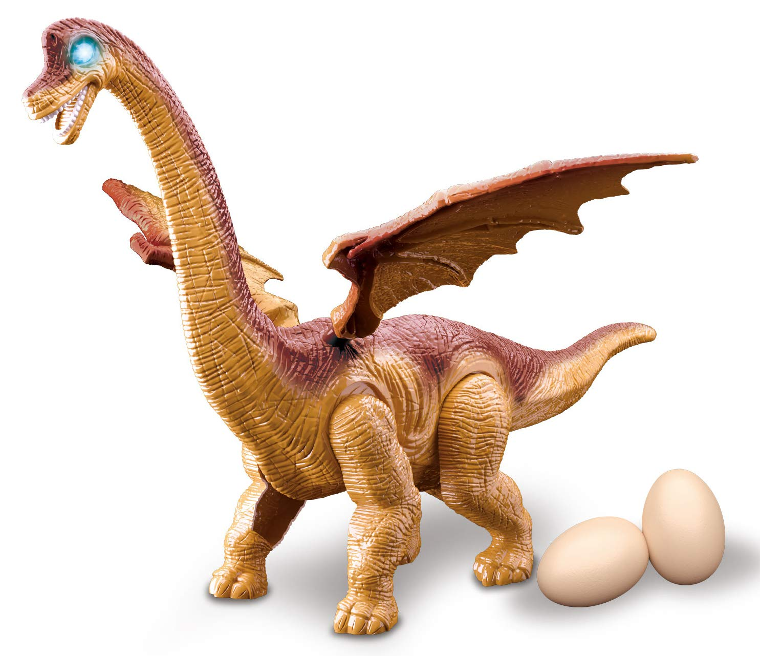 PowerTRC Walking Brachiosaurus Toy Dinosaur Makes Sounds and Even Lay Eggs by PowerTRC (Image #2)