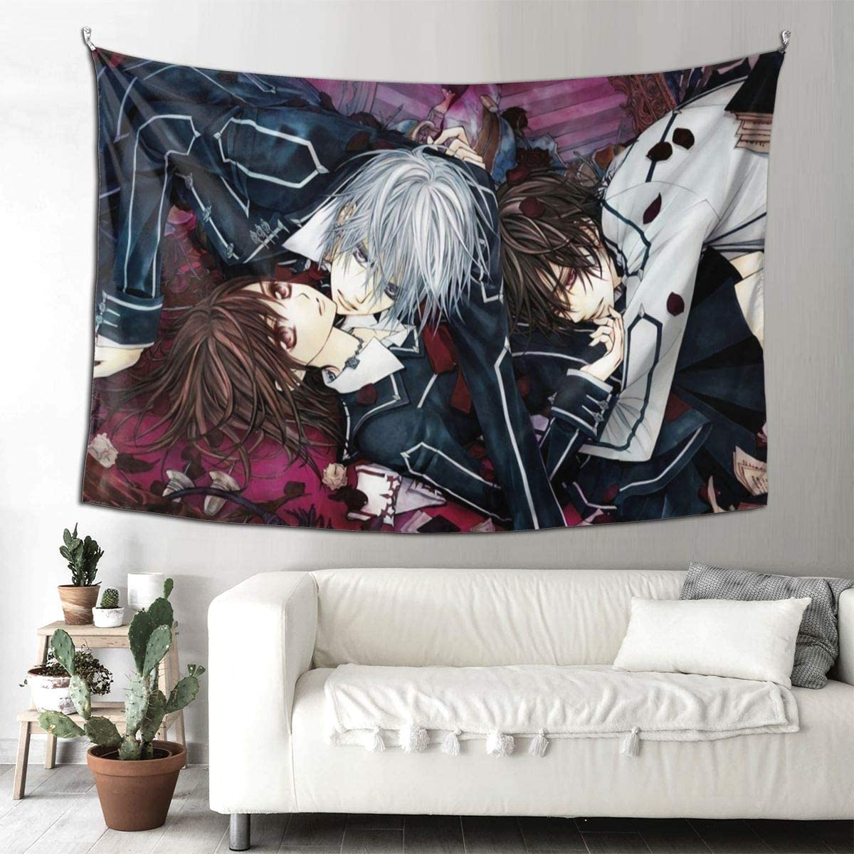 Vdsdsf Vampire Knight Tapestry Wall Tapestry for Bedroom Living Room Blanket Wall Hanging Decoration for Apartment Home Art 90 60 in