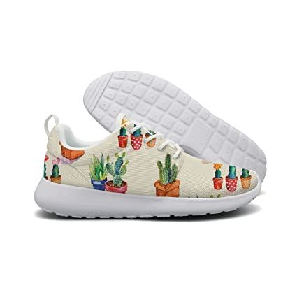 Cactus Potted Womans Top Running Shoes Jogger Cute