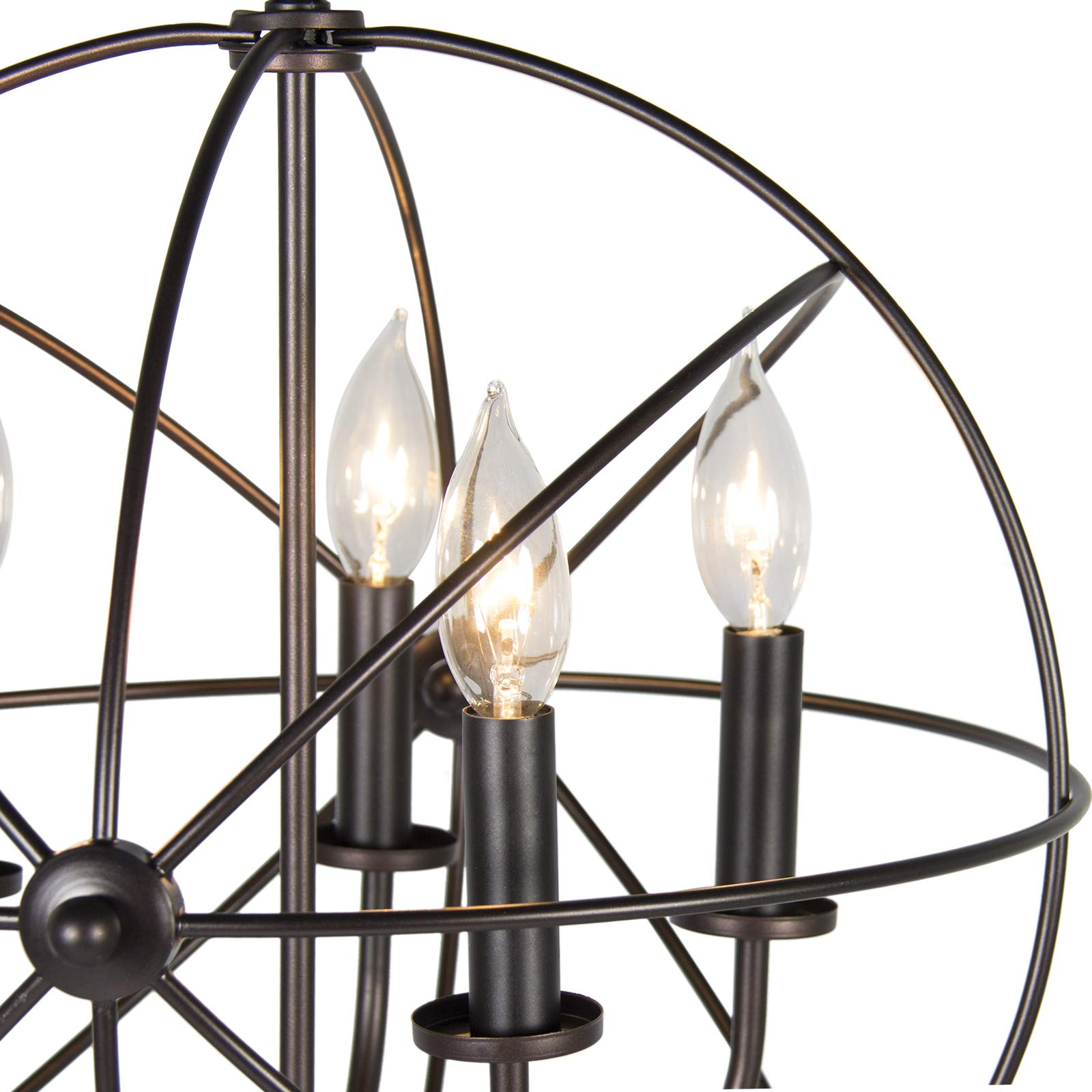Industrial Vintage Lighting Ceiling Chandelier 5 Lights Metal Hanging Fixture by Best Choice Products (Image #3)