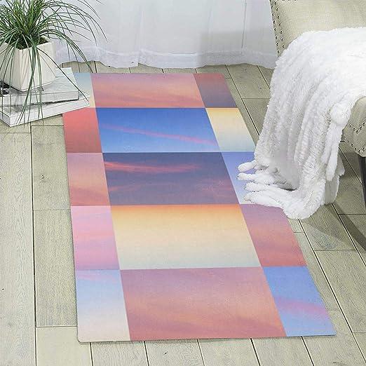 Col1Q Alfombra de Yoga con patrón de Cielo de Cuadros ...
