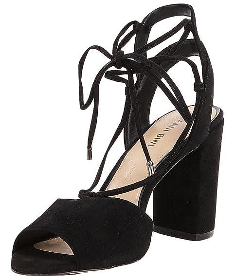 515406cb1628 Gianni Bini Keelin Suede Block Heel Lace-Up Sandals (7M