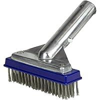 "Poolmaster 20178 5"" Aluminum-Back Algae Brush w/Stainless Steel Bristles - Classic Collection"