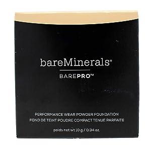 bareMinerals Barepro Performance Wear Powder Foundation, Warm Light, 0.34 Ounce