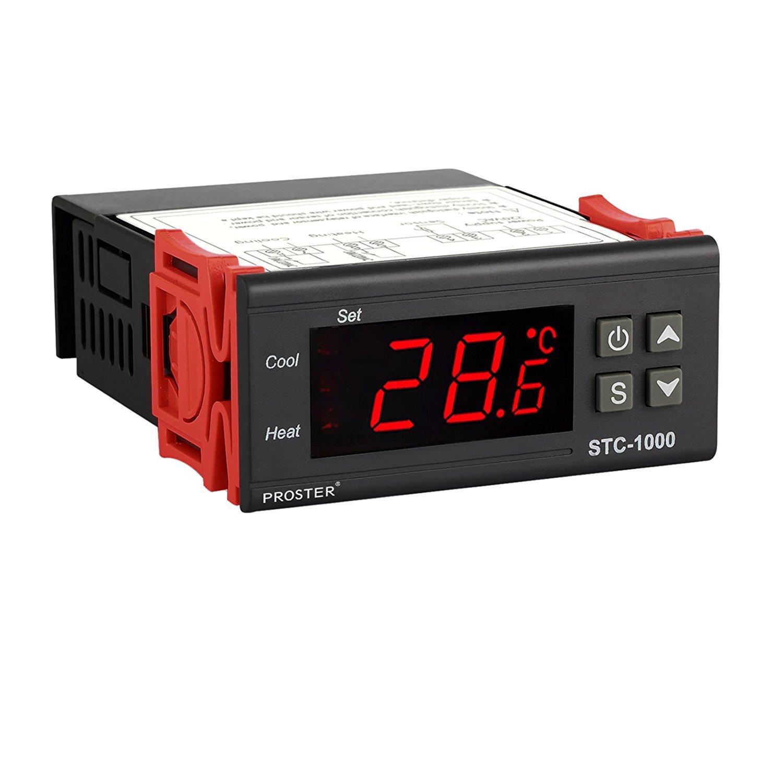 Termostato STC-1000, Proster 220V Digital Display LCD Sensor Controlador de Temperatura Termostato para Todo Uso en el Acuario de la Aprobació n CE Proster Trading Limited
