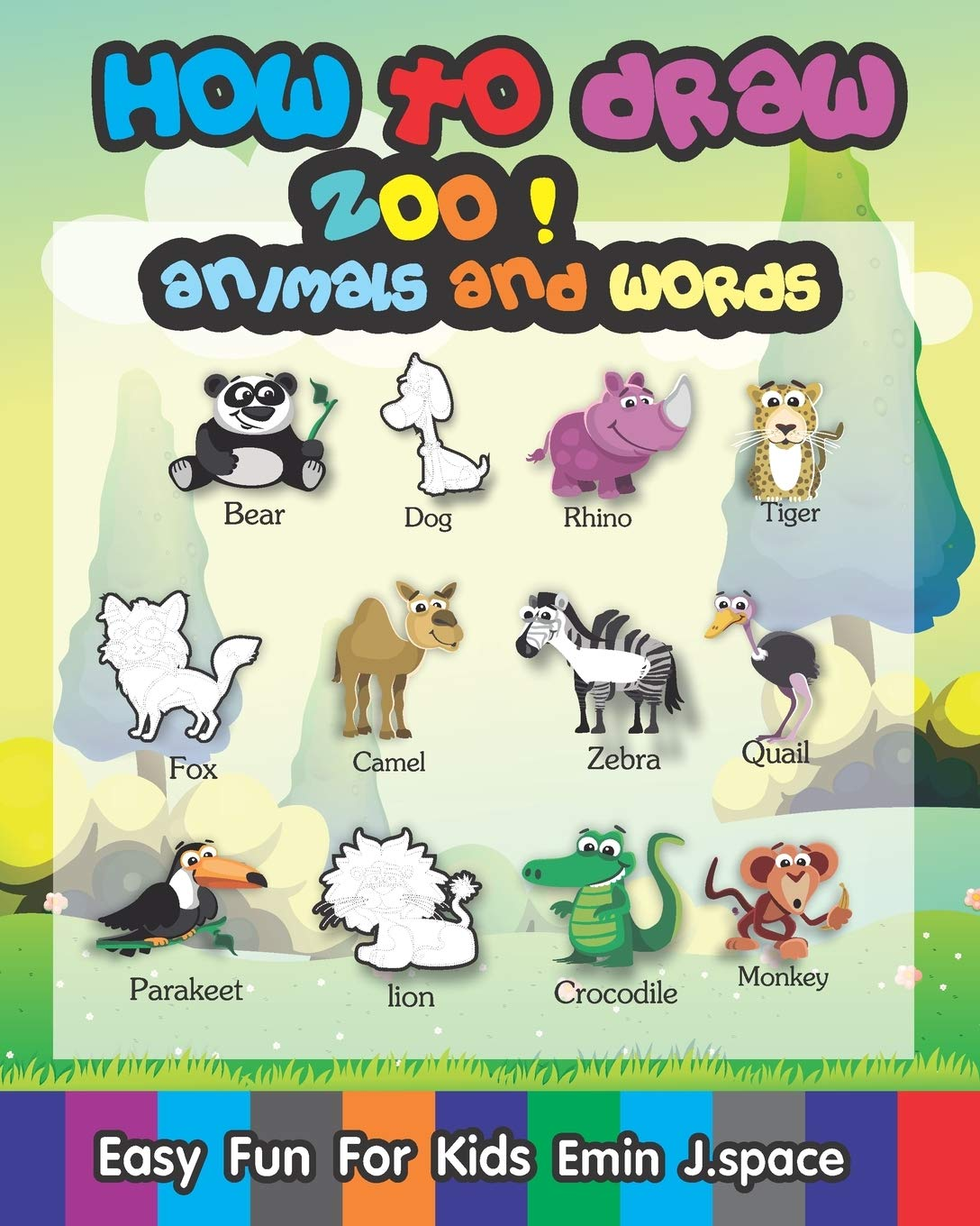 Buy How To Draw Zoo Animals And Words Easy Fun Drawing And First Words Book For Kids Age 6 8 Zoo Animals First Word Book Online At Low Prices In India