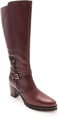 Zerimar Bottes Hautes pour Femme en Cuir