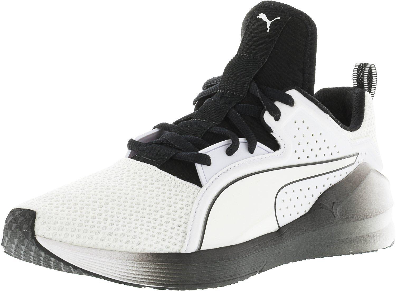 PUMA Women's Fierce Lace WN's Cross-Trainer Shoe, White Black, 5.5 M US