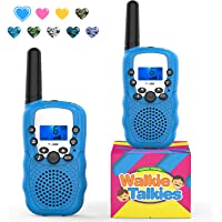 Family Walkie Talkies,Topsung T388 Two Way Radio Up to 3 KM Long Range VOX Best Walky Talky for Boys Toys for Outdoor Camping Hunting (Blue 2 Pack)