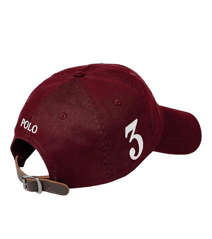 a454eaff386b Ralph Lauren Polo Casquette Sport Big Pony Chino - Bordeaux  Amazon.fr   Vêtements et accessoires