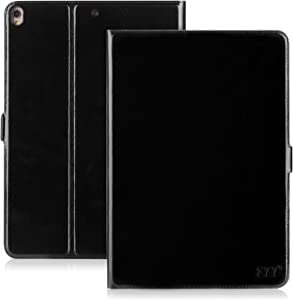 FYY Case for 2019 iPad Air 3 10.5/2017 iPad Pro 10.5 inch, Handmade Genuine Leather Case with Kickstand Function for 2019 iPad Air 3 10.5/2017 iPad Pro 10.5 inch Black