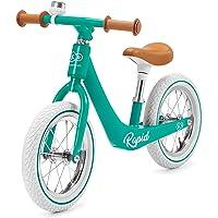 kk Kinderkraft Bicicleta sin Pedales RAPID, Sólida, Ajustable, Retro, Verde