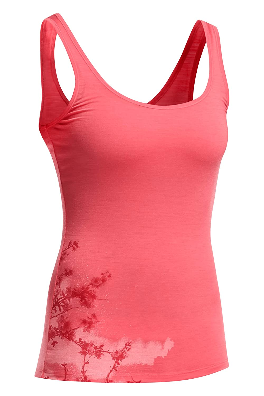 Icebreaker Damen Shirt Unterhemd Siren Tank Cherry Blossom