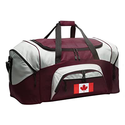 Canada Gym Bag Deluxe Canada Flag Duffle Bag