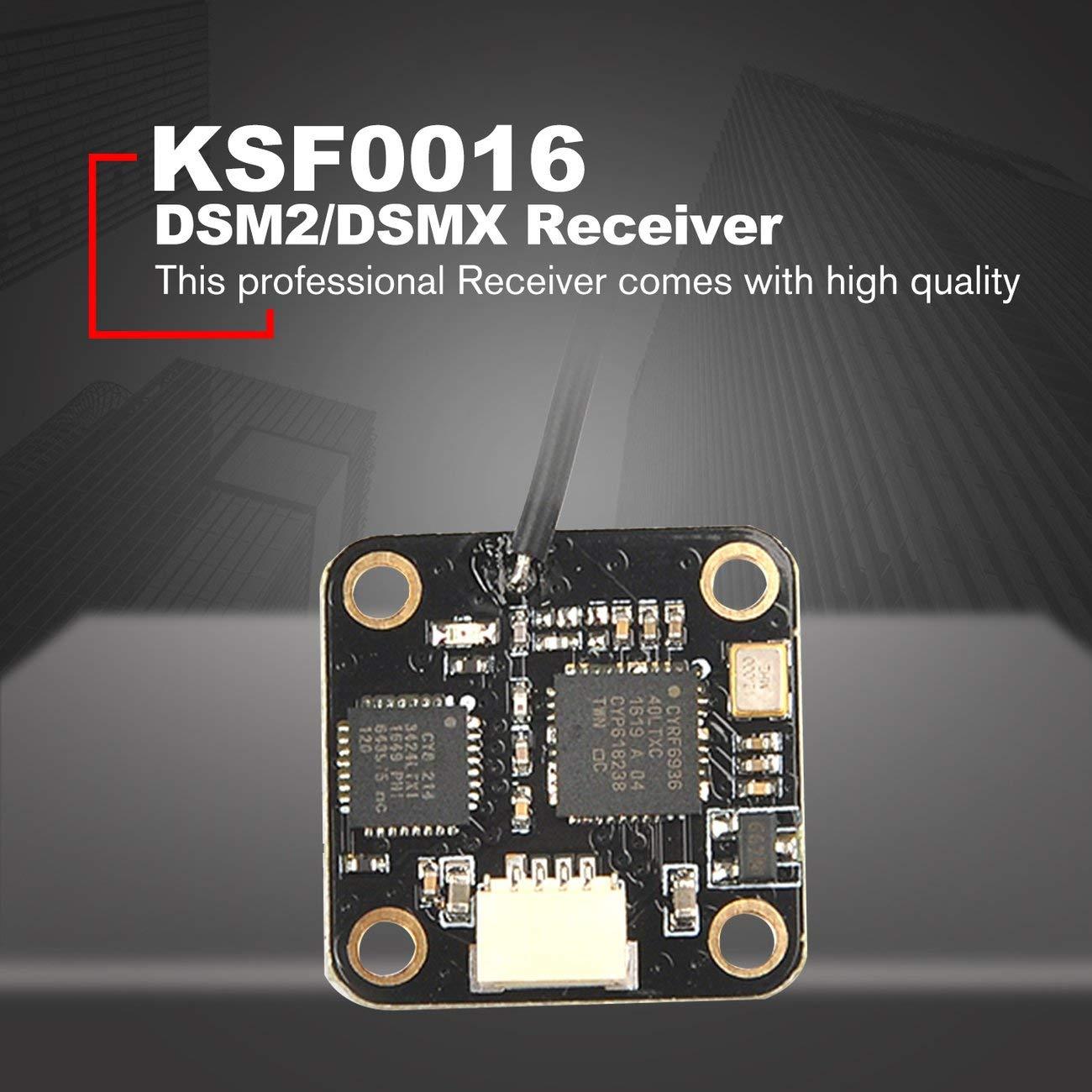 DSMX pour transmetteur Spektrum Satellite RC Contr/ôleur de vol F3 Contr/ôleur de vol RC Racing Drone Elviray R/écepteur Mini DSM2