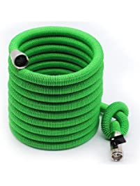 Green 50FT Expandable Garden Hose   Heavy Duty Expanding Hose Magic 2018  Newest Improved With Anti