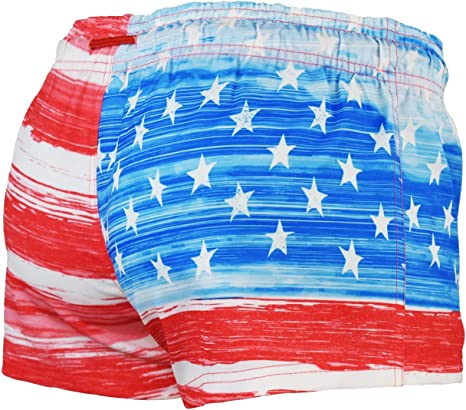 1.75 Inseam Licensed-Mart Womens Old Glory American Flag Short Shorts