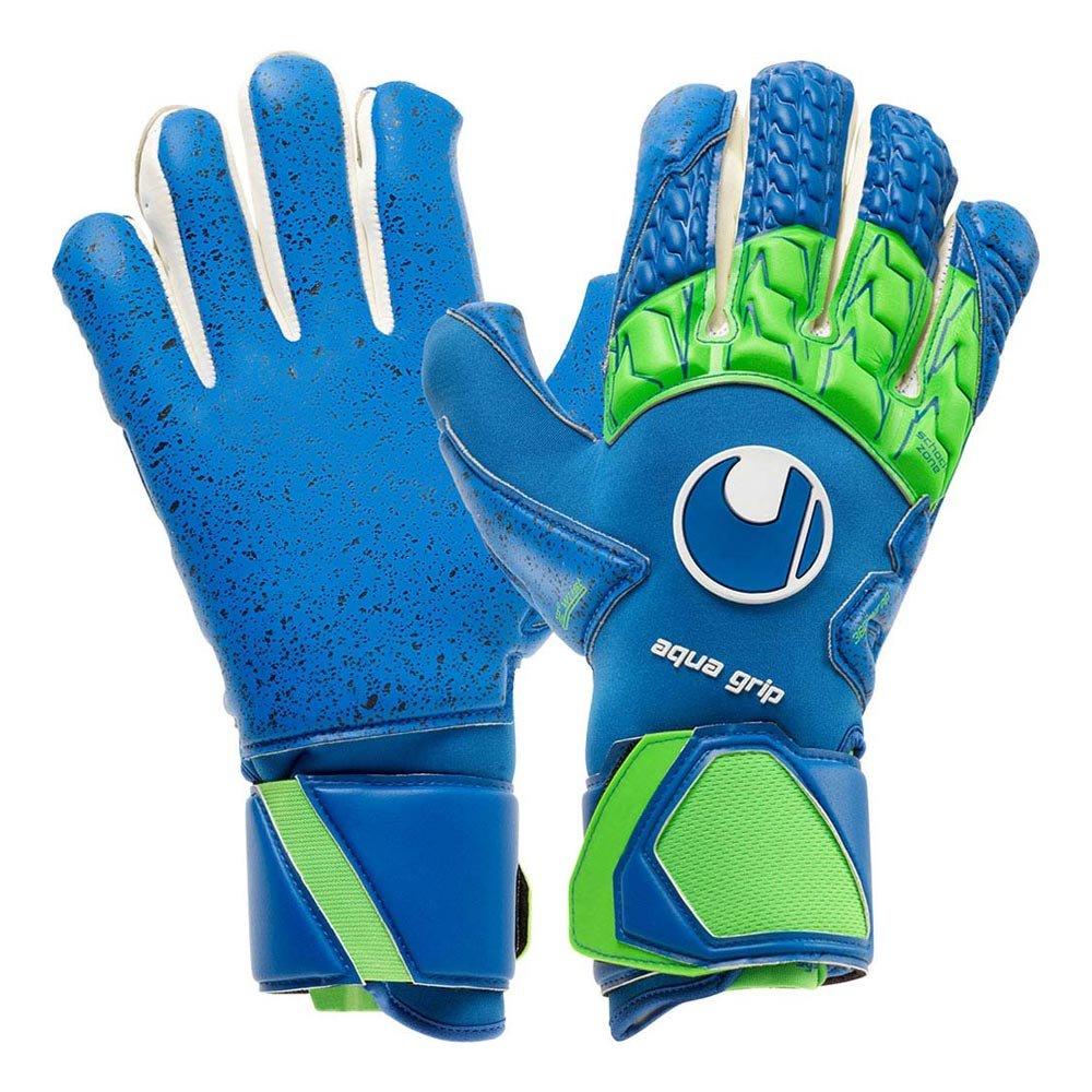 uhlsport(ウールシュポルト)サッカーキーパーグローブ アクアグリップ ハーフネガティブ GKグラブ 全天候 1011070 B079TQP4BN01ブルー×フローグリーン 9
