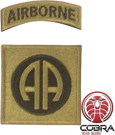 Cobra Tactical Solutions 82nd Airborne Division US Army Patch Parche Bordado Táctico Moral Militar con Cinta adherente de Airsoft Cosplay para Ropa de Mochila Táctica: Amazon.es: Hogar