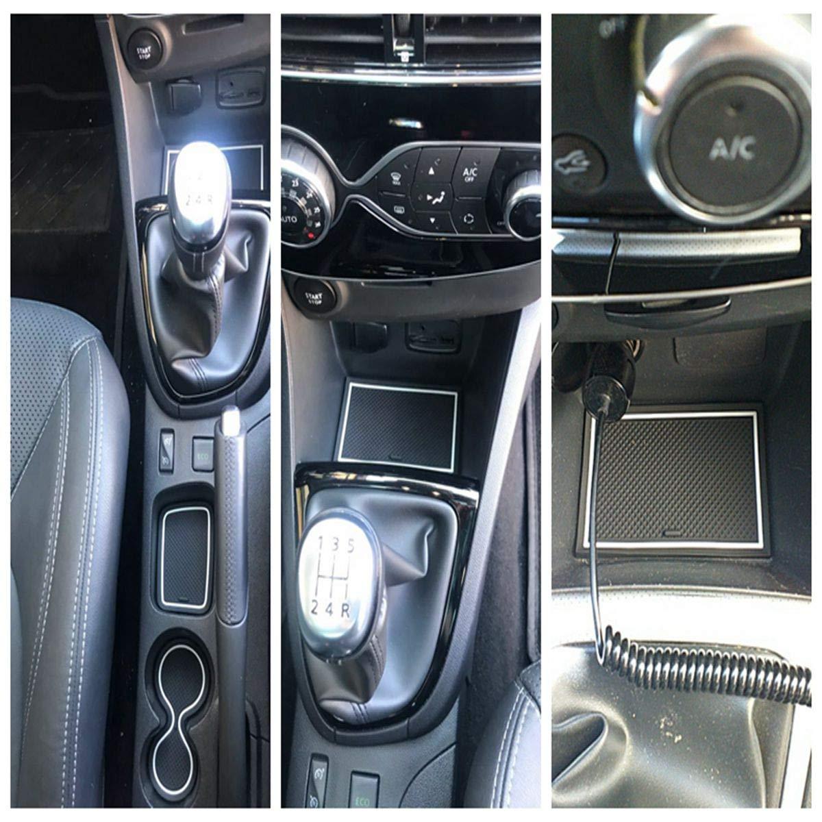 wasserdicht ISSYZONE CLIO 4 Anti-Rutsch-Unterlage f/ür Innenr/äume rutschfest Pad Slot aus Gummi f/ür Clio 4 2013-2018 Bianco