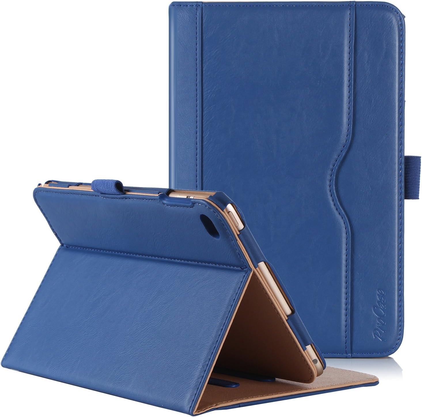 ProCase iPad Mini 4 Case - Leather Stand Folio Case Cover for 2015 Apple iPad Mini 4 (4th Generation iPad Mini, mini4), with Multiple Viewing Angles, auto Sleep/Wake, Document Card Pocket (Navy Blue)