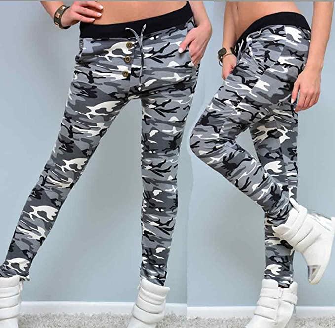 Tongshi Fitness polainas camuflaje mujer elastizada Yoga gimnasio de deportes pantalones: Amazon.es: Deportes y aire libre