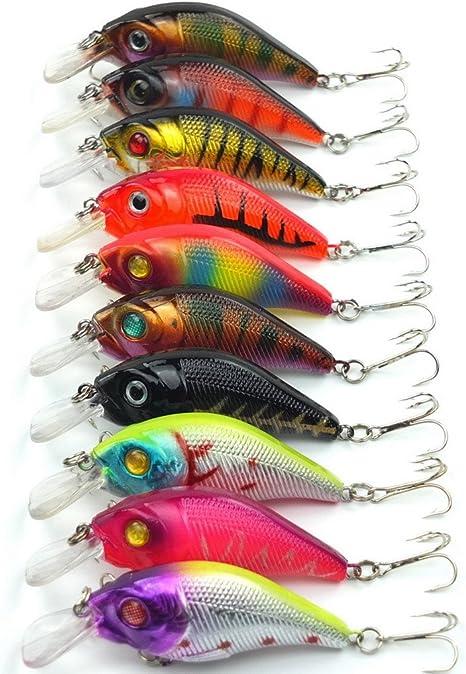 Lifelike Minnow Fishing Lures Crankbait Swim Bait Wobble Tackle Fish Gear Kit