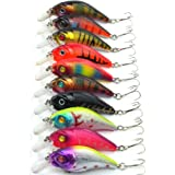 Aorace Artificial Fishing Lures Kit 3D Eyes Hard Popper Lures for Saltwater Freshwater