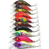 Aorace 10pcs/lot Minnow Fishing Lure Crank Bait Hooks Bass Crankbait Tackle 7.5cm/10.2g Isca Artificial Para Pesca Hard Bait
