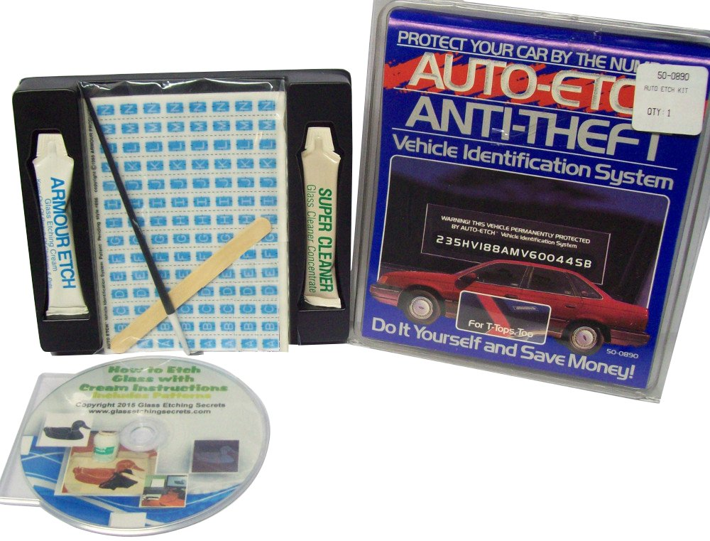 Car/Auto/Vehicle VIN Glass Etching Kit for Anti-Theft by Auto Etch Anti-Theft Vehicle Indentification System