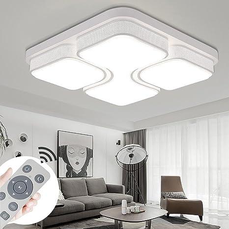 myhoo 48 W 64 W 78 W 100 W – Lámpara LED de techo diseño LED Lámpara de techo Salón Dormitorio Cocina lámpara de [Clase energética A + +]
